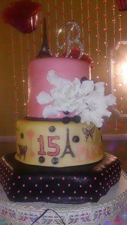 vintaje PAris cake