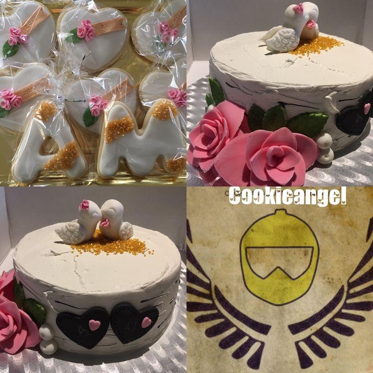 Marisol y Antonio celebran 50 años de matrimonio y su hija así lo ha querido celebrar, este encargo lo he hecho con mucho amor #lactosefree #cake #birdslove #goldenlove #