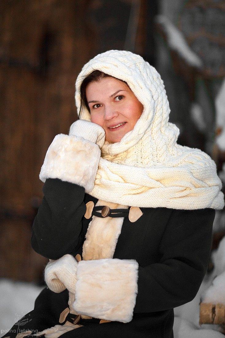 Чугунная свадьба - Ярмарка Мастеров - ручная работа, handmade knitted hood, вязаная пелерина, капюшон-пелерина, душегрейка