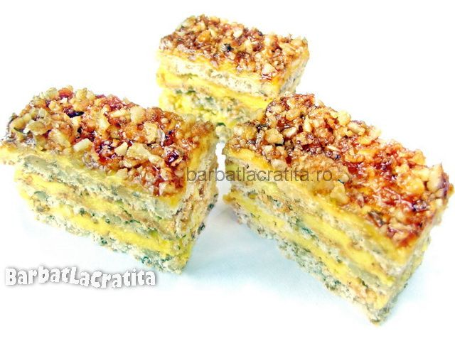 Prajitura Krantz cu nuci caramelizate
