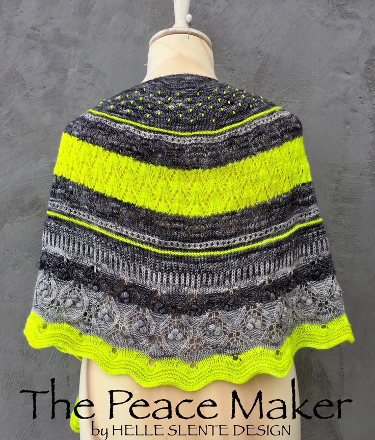 The Peace Maker shawl by HELLE SLENTE DESIGN