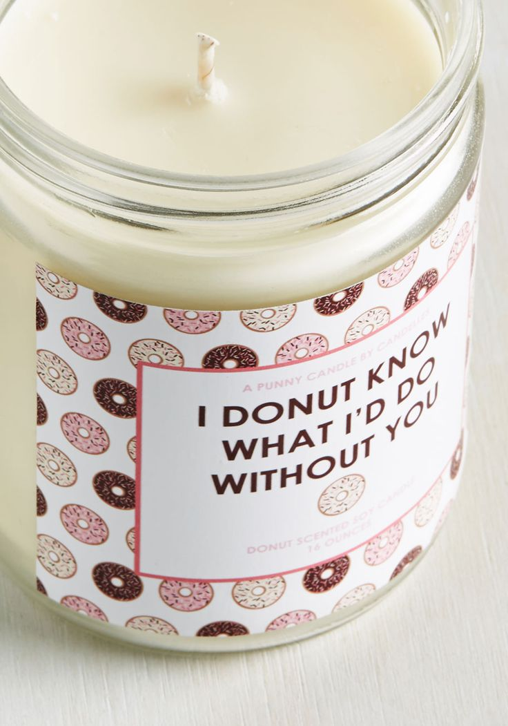 Scents of Humor Candle in Donut. Do you have a burning passion for puns? #multi #modcloth