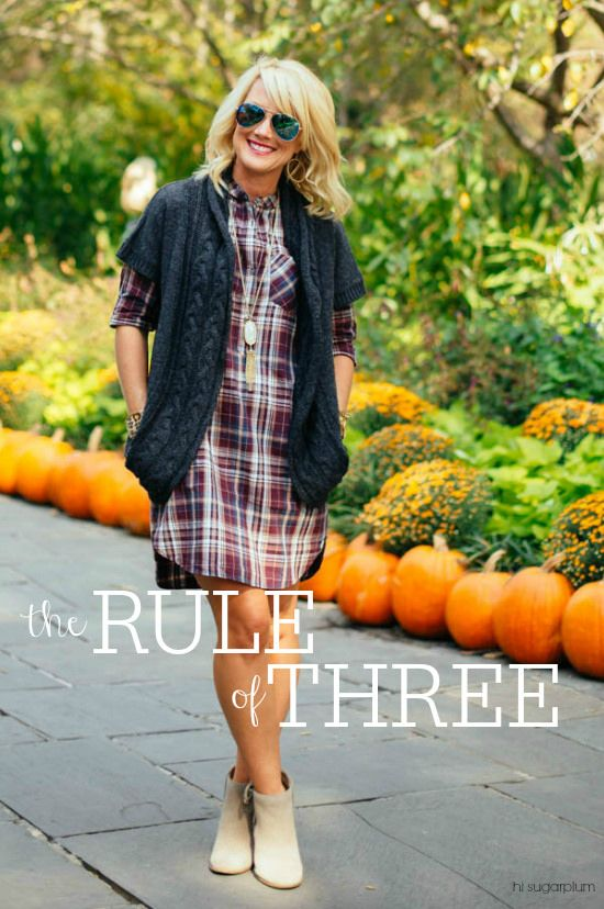 Hi Sugarplum | How to use the Rule of Three to easily & effortlessly build a stylish outfit every time!