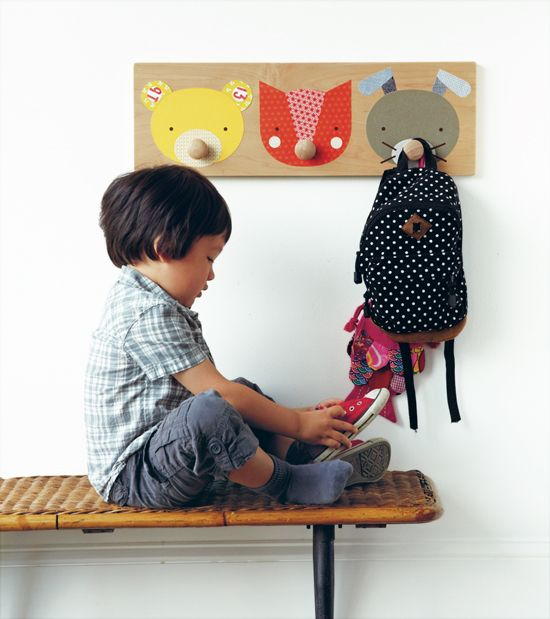 Animal Wall hooks | Petit Collage craft book