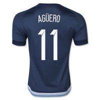 2015 Argentina Soccer Team AGUERO #11 Away Replica Jersey 2015 Argentina Soccer Team AGUERO #11 Away Soccer jerseys|cheap Agentina football jerseys sale