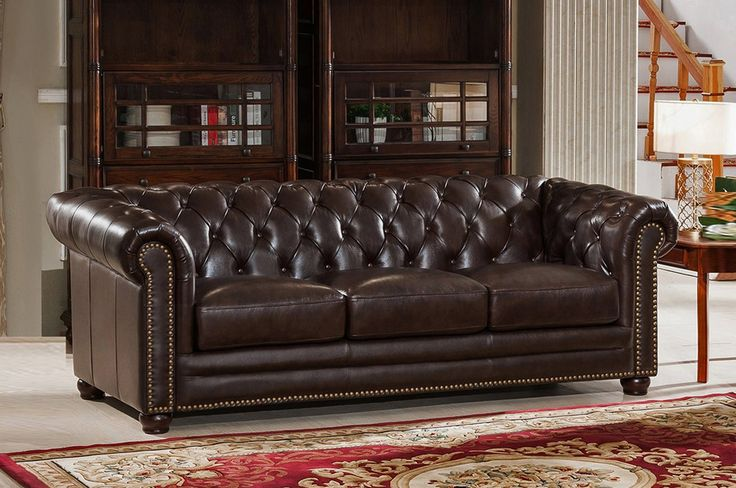 Kensington 3 Piece Leather Living Room Set