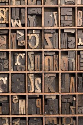 I can totally make that: Vintage Monday: Printer's Letterpress Block Letters