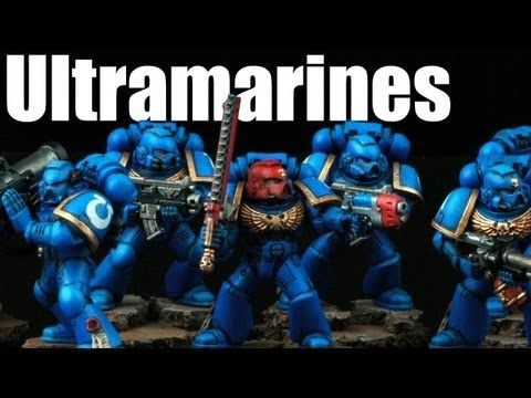 How to paint Ultramarines Space Marines? Warhammer 40k Airbrush buypainted 1/2 - YouTube