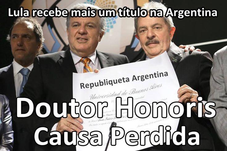 Post  #FALASÉRIO!  : Doutor Honoris - Lula recebeu seu nono título só e...