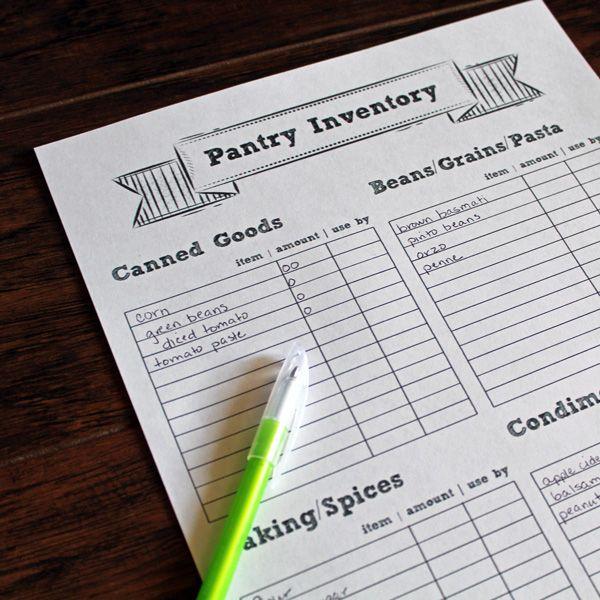 17 mejores ideas sobre Pantry Inventory Printable en Pinterest ...