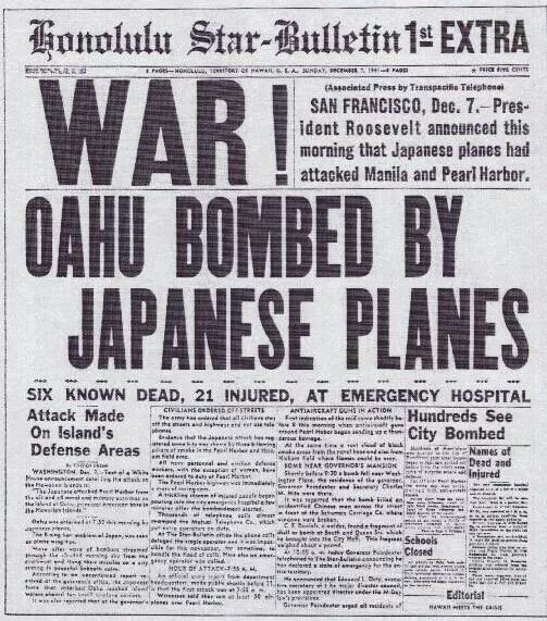 Pearl Harbor bombed