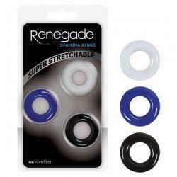 Renegade Stamina Rings - Set of 3 - Quality Cock Rings