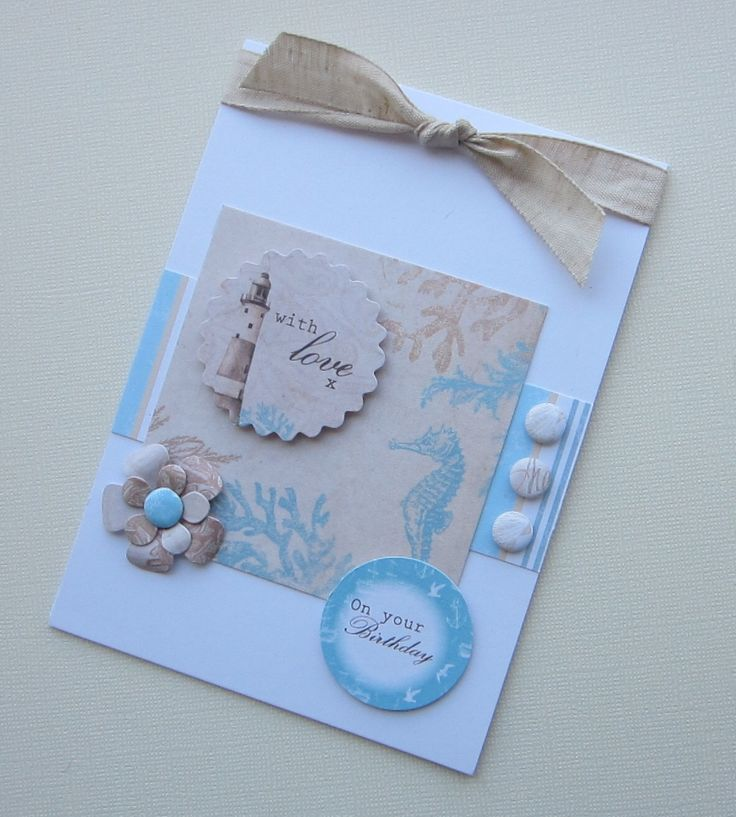 Card created by Kath Woods using the Coastal collection from Craftwork Cards