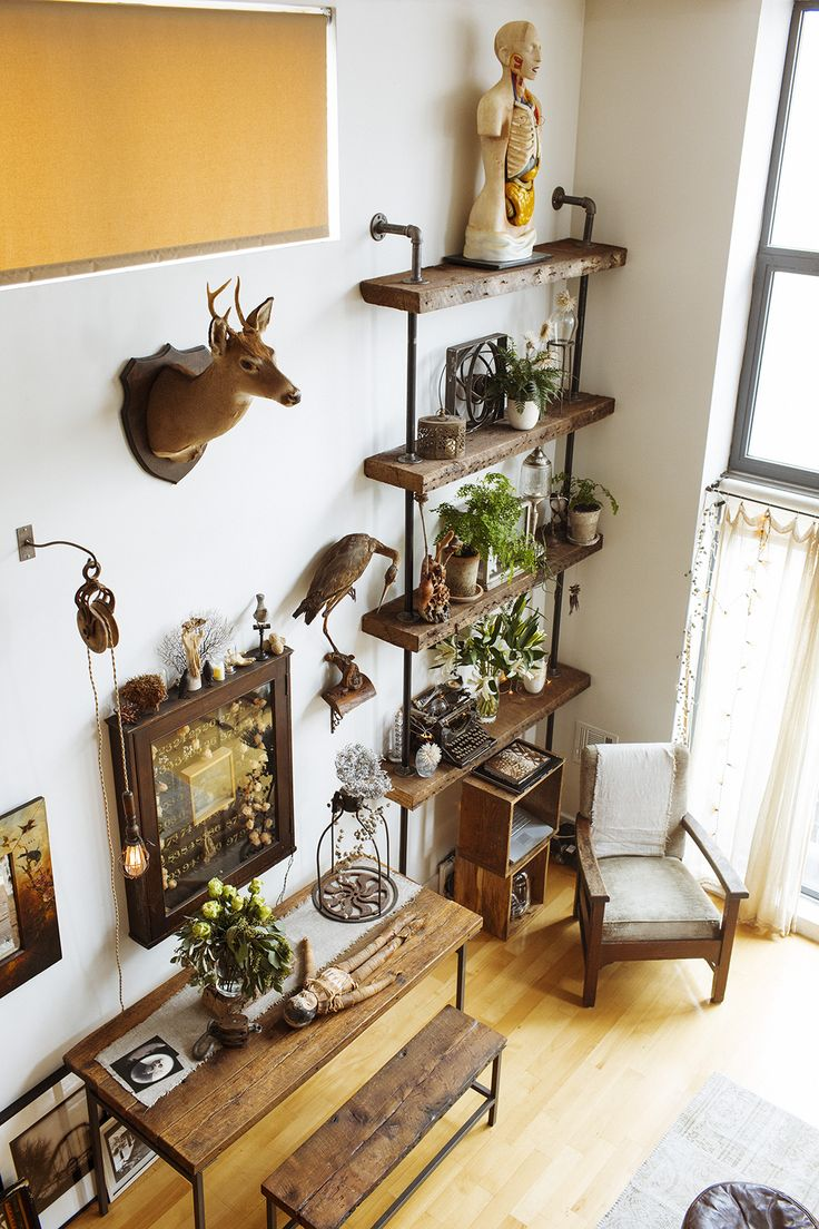 Kim Meinelt and Scott Irvine at Home in Brooklyn « the selby  love thhe wall shelves for plants