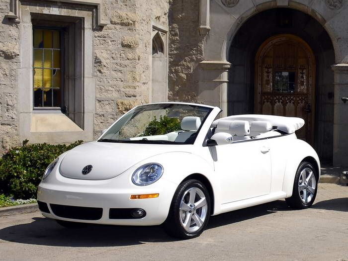 Volkswagen Triple White New Beetle Convertible