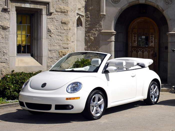 Volkswagen Triple White New Beetle Convertible VW Bug