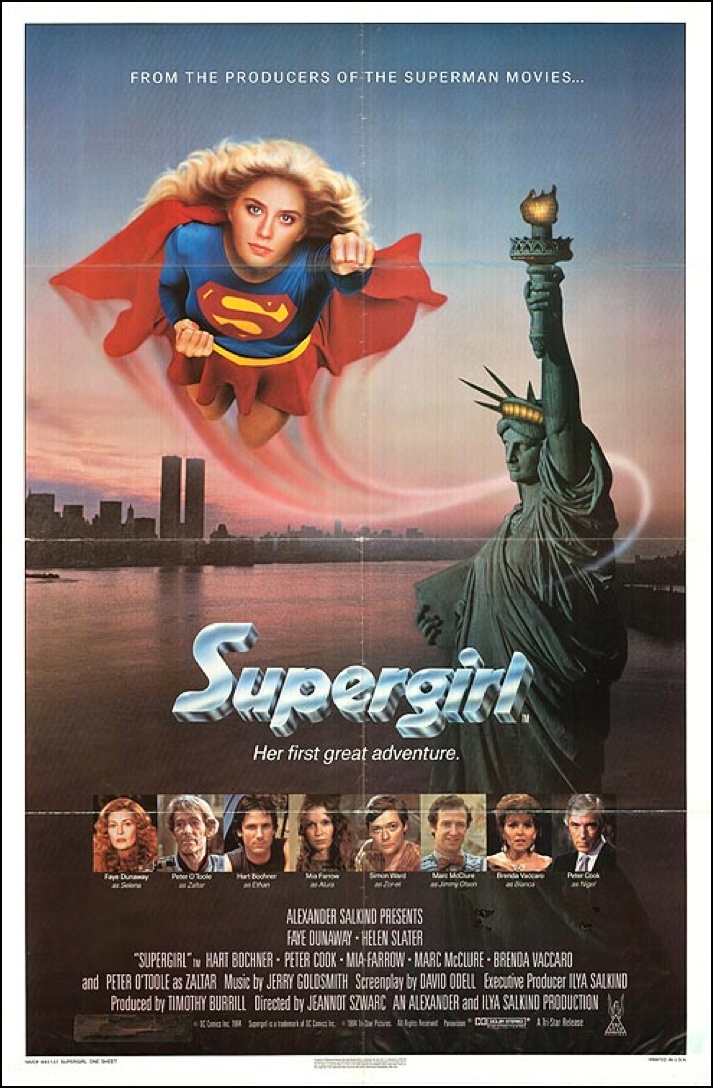 Supergirl (1984) starring Faye Dunaway, Helen Slater & OH GOD NO WHY MAN, WHY Peter O'Toole