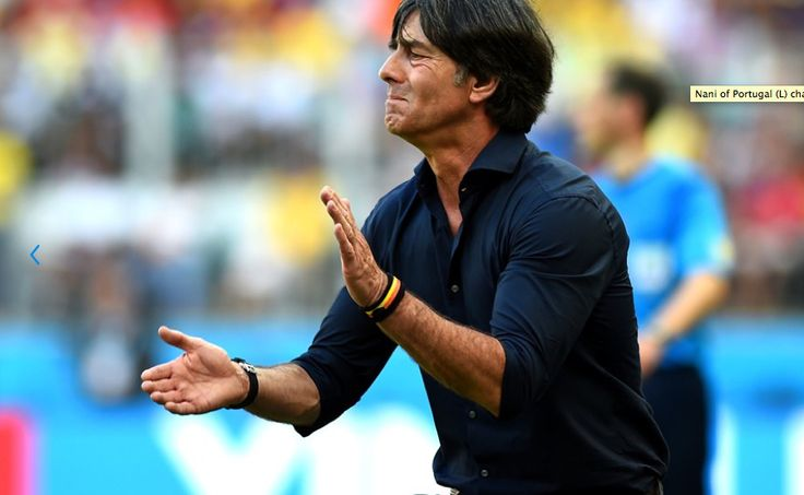 Joachim Löw, head coach of the German football team at the FIFA World Cup, wearing a PARA'KITO band