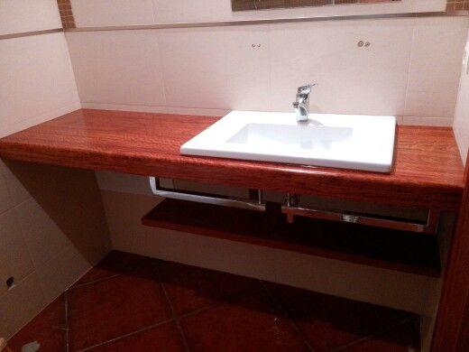 Bancada pr lavatório WC