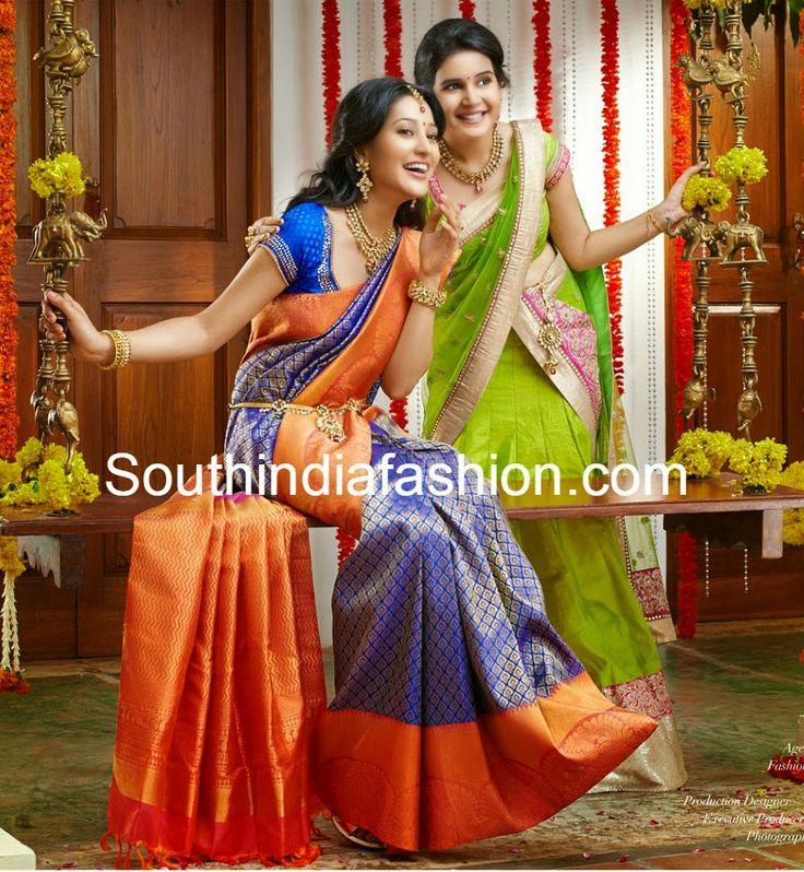 Gorgeous Wedding Silk Saree ~ Celebrity Sarees, Designer Sarees, Bridal Sarees, Latest Blouse Designs 2014