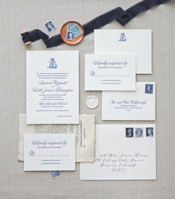 Letterpress wedding invitations // Charleston design // CHATHAM & CARON letterpress studio /Letterpress Invitations, Letterpress Wedding Invitations, Classic, Modern, Calligraphy, Wedding Invitations, Elegant, Monogram Invitation, Script, Pretty, Timeless, Affordable, Calligraphy, Vintage