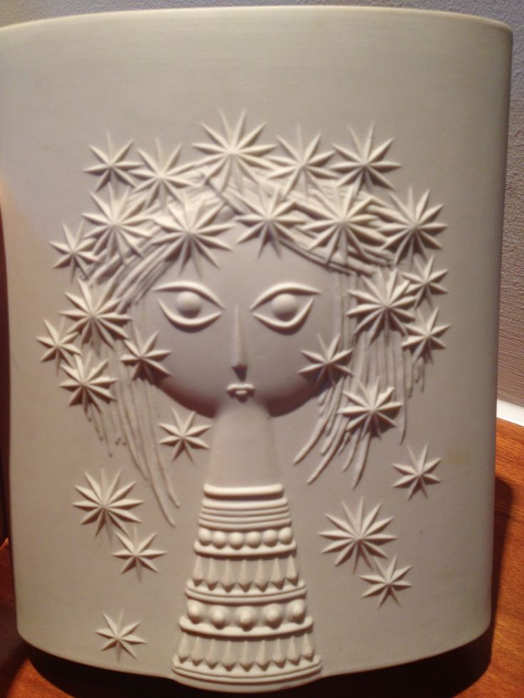 Aprodite vase, 'Girl with stars in her hair' john clappison, Hornsea 1961. My Bristol bargain, £2 in a charity shop!