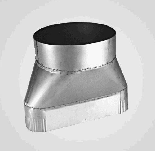 Chimney Plus 322366 Protech VAD 6 x 6 - 6 Inch Round to 6 Inch Oval 321SS by Chimney Plus. $79.73. Design is stylish and innovative. Satisfaction Ensured.. Manufactured to the Highest Quality Available.. Great Gift Idea.. This Ventinox VAD 6 X 6 Round-to-Oval Adaptor is constructed of 321 stainless steel. It provides a dripless connection between a 6 inch round Ventinox liner (above) and a 6 inch ovalized Ventinox liner.  Measures: 4 X 7.7.