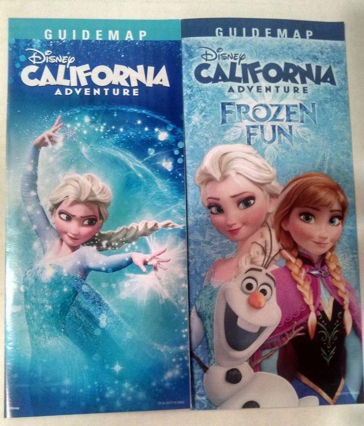 2 Disney California Adventure Guide Map Frozen Fun 2015/2016 Disneyland #Disney