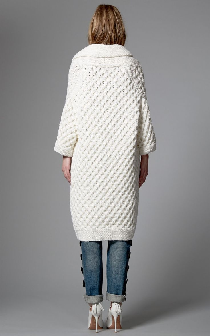 Kim Haller Sonya Cardigan In Ivory by Kim Haller for Preorder on Moda Operandi