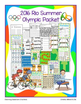Thanks for purchasing my 2016 Rio Summer Olympic Packet! Every four years we have the pleasure of experiencing the Summer Olympic Games with gorgeous locations, remarkable athletes, and new and exciting cultures. This year in Rio will be no different.