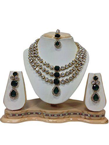 Indian Bollywood style Gold Plated Dark Green Stones Whit... https://www.amazon.com/dp/B01KBTP13U/ref=cm_sw_r_pi_dp_x_WsrZybXZ2SFXS