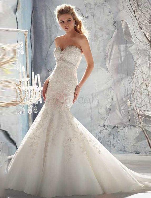 Diamond Fishtail Wedding Dresses : Images about trumpet wedding dresses on
