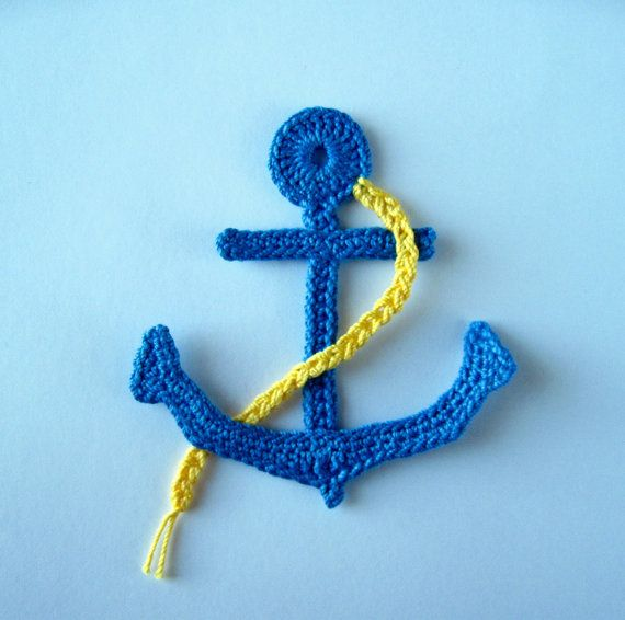 Crochet Pattern Anchor Applique Sea Motif PDF by GoldenLucyCrafts