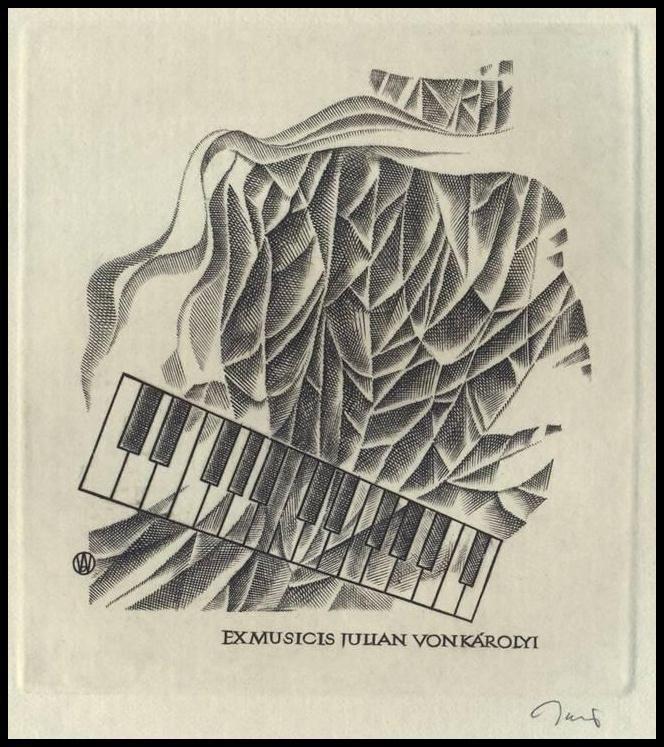 Jakubowski Wojciech C2 Exlibris 1976 Music Musik Piano Keys Klavier 473 | eBay