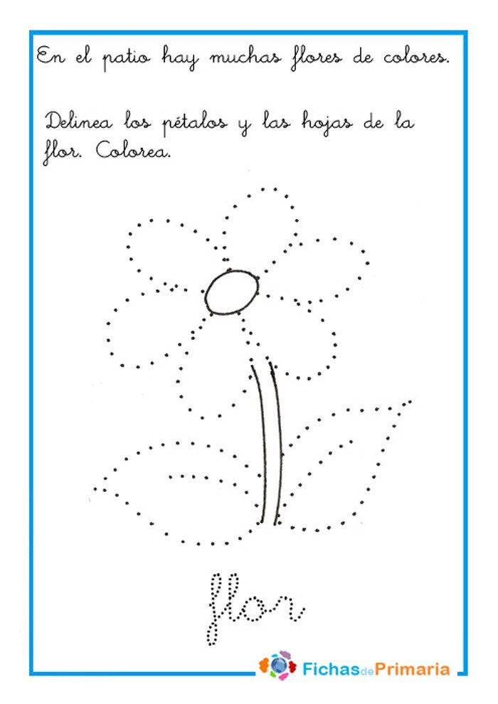 Trazos Para Preescolar Flor Trazos Classroom
