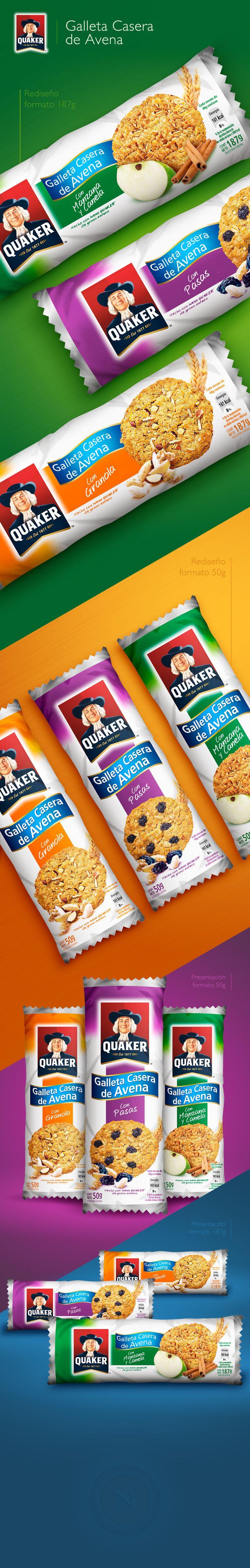 Packaging | Galleta Casera de Avena Quaker on Behance
