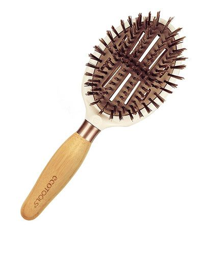 EcoTools Sleek + Shine Finisher Hair Brush I received from influenster for testing. Love how sturdy it is.