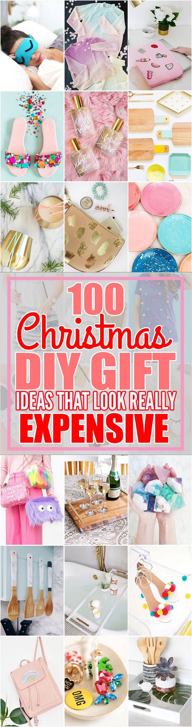 This list of 100 expensive looking DIY gifts is exactly what I've been looking for. This post contains a ton of expensive looking DIY gifts that are perfect for birthdays, Mother's Day, Christmas, and more. I will save a ton of money this Christmas holiday season by creating some of these expensive looking DIY Christmas gifts from this post! You have to check it out for yourself