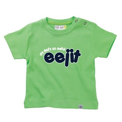 My Dad's An Awful Eejit  Baby T-Shirt by Hairy Baby