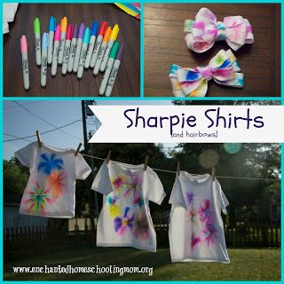 Sharpie shirts and hair bows