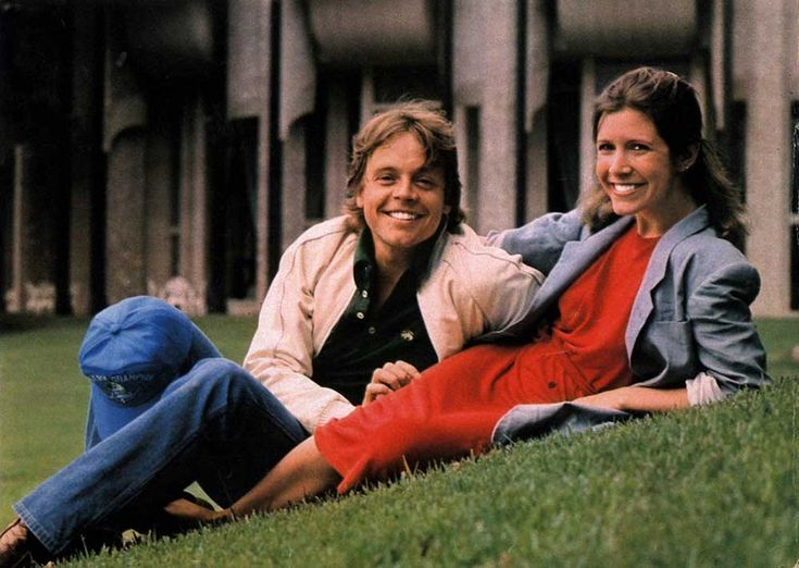 Mark Hamill and Carrie Fisher | Rare and beautiful celebrity photos