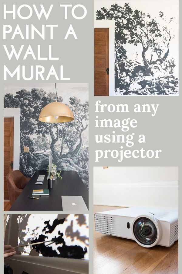 Painting A Foliage Filled Wall Mural