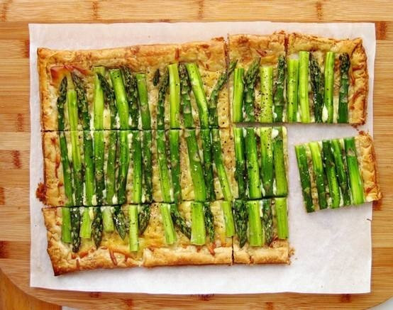 Asparagus gruyere tart... it's almost time for Wild asparagus hunting ...