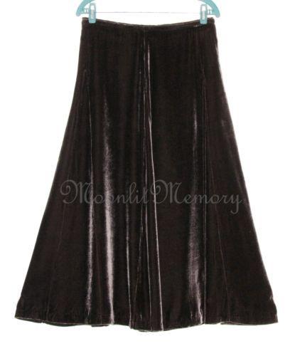 Brown Velvet Skirt 63