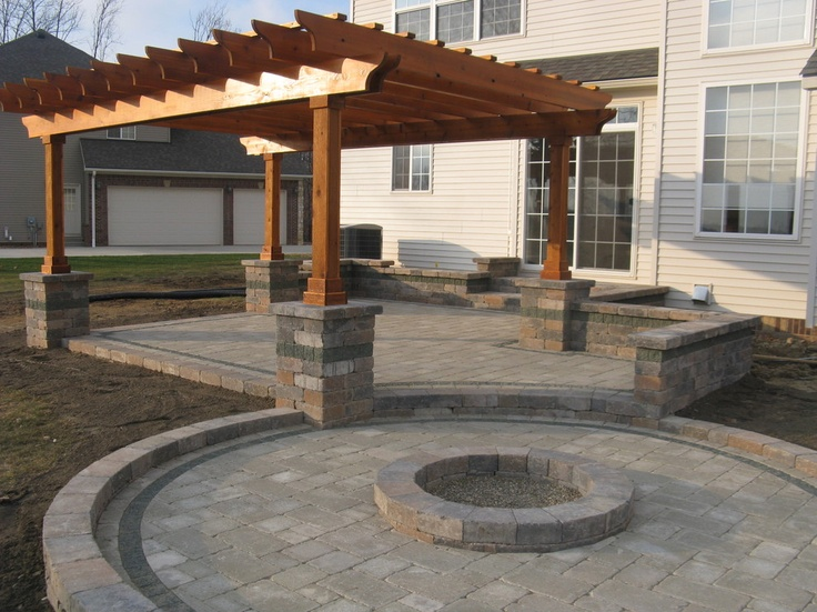 Really Nice Patio With Pergola And Fire Pit. KB Home Austin #KBHomes