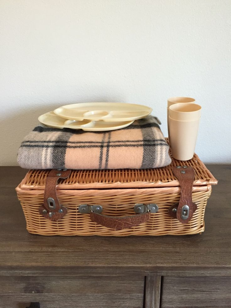 A personal favorite from my Etsy shop https://www.etsy.com/listing/463270139/vintage-picnic-basket-willow-picnic