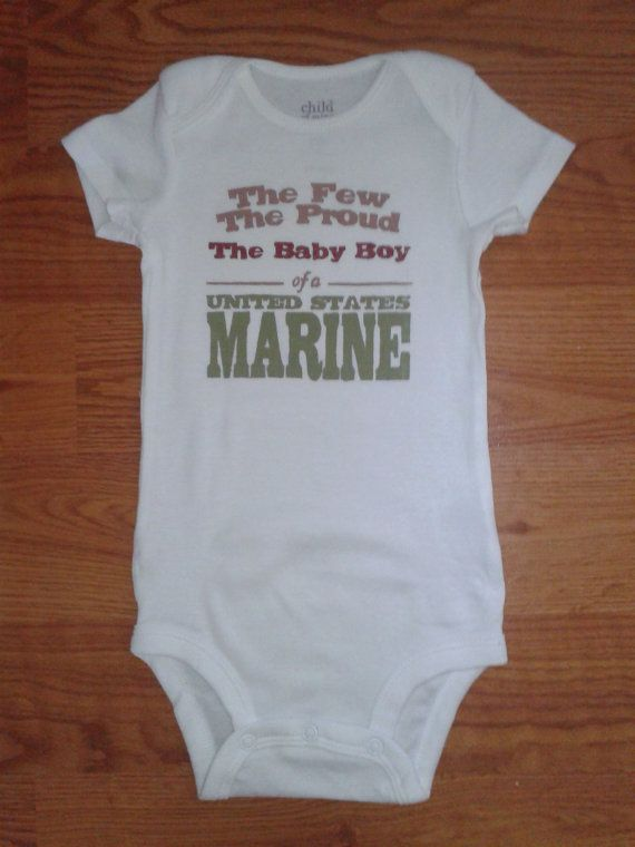 The Few, The Proud, The Baby Boy of a United States Marine Hand Painted Bodysuit on Etsy, $8.00