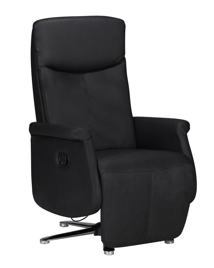 Relaxsessel CHILL TV Sessel Leder Optik Schwarz