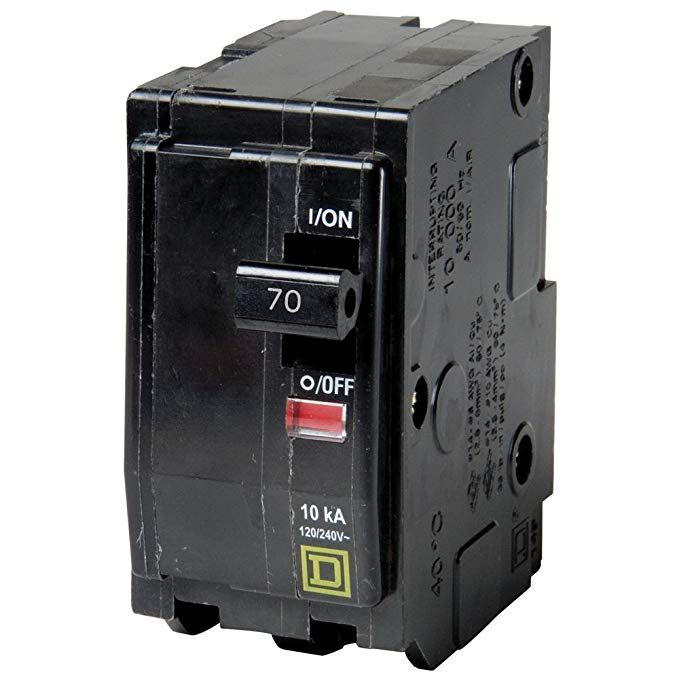 Square D Qo270 Miniature Circuit Breaker 120 240 Vac 70 A 10 Ka Interrupt 2 Poles Thermal Magnetic Trip Review With Images Circuit Breakers Pole