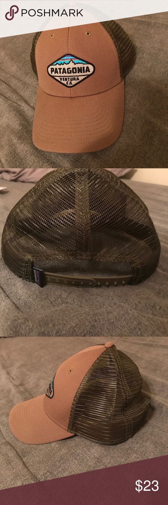 Patagonia Ventura Hat SnapBack Patagonia SnapBack trucker hat. Tan with army green mesh with adjustable SnapBack. Like new condition. Patagonia Accessories Hats